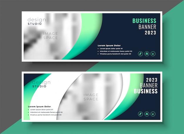 Projeto de layout de modelo de banner profissional de negócios Vetor grátis