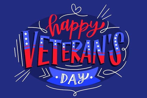Projeto de letras do dia dos veteranos Vetor grátis