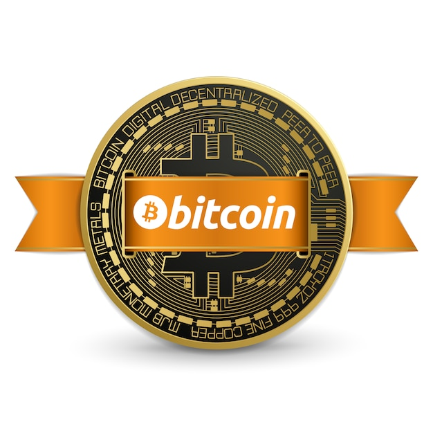 Projeto de logotipo bitcoin Vetor Premium