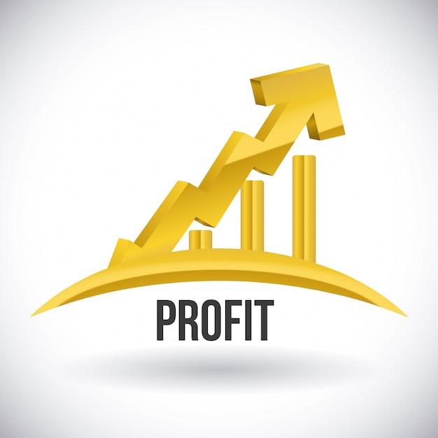 Projeto de lucro Vetor Premium