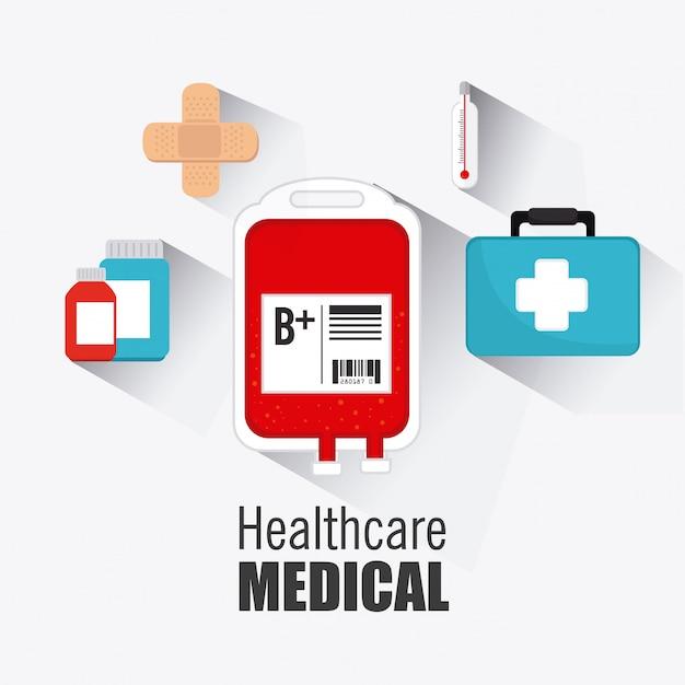 Projeto de medical healtcare. Vetor Premium