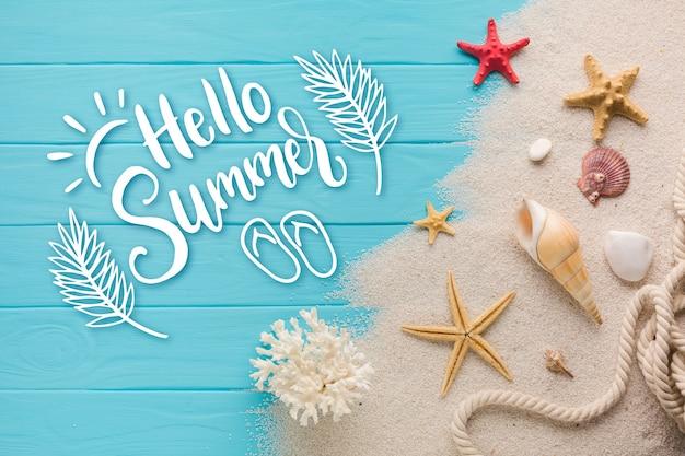 Projeto de mensagem letras de verão Vetor grátis