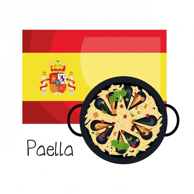 Projeto de música de bandeira de espanha Vetor Premium