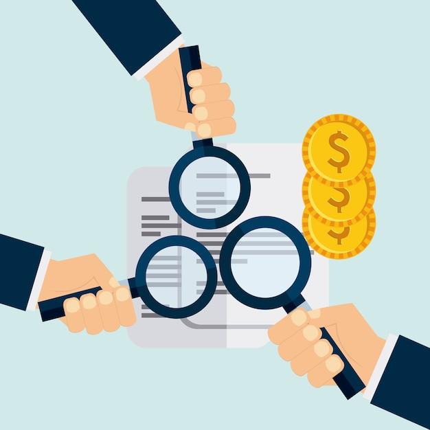 Projeto de obrigações econômicas Vetor Premium