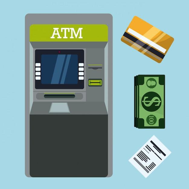 Projeto de pagamento, ilustração vetorial. Vetor Premium