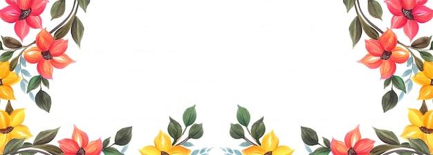 Projeto de plano de fundo colorido banner floral lindo casamento Vetor grátis