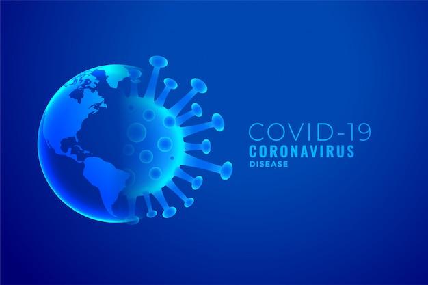 Projeto de plano de fundo de conceito de explosão de coronavírus e terra Vetor grátis