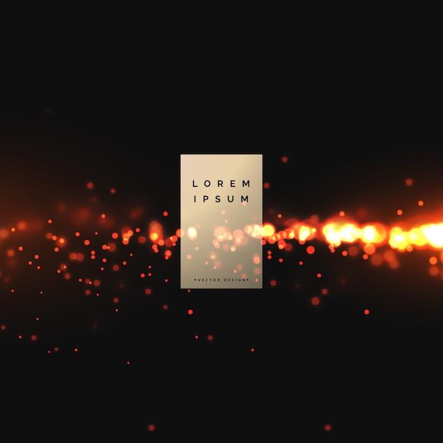Projeto de plano de fundo de efeito de brilhos de fogo Vetor grátis