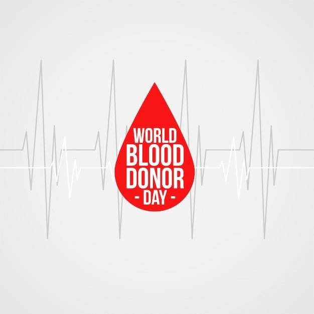Projeto de plano de fundo do mundo doador de sangue dia conceito Vetor grátis