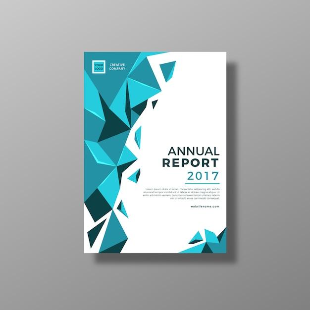 Projeto de relatório anual azul e branco Vetor grátis