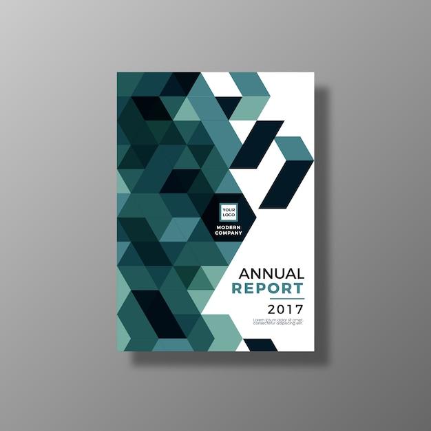 Projeto de relatório anual geométrico Vetor grátis