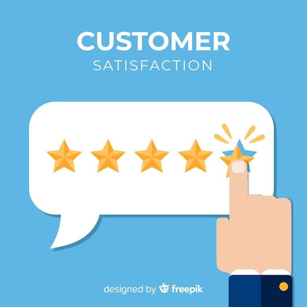 Projeto de satisfação do cliente Vetor grátis