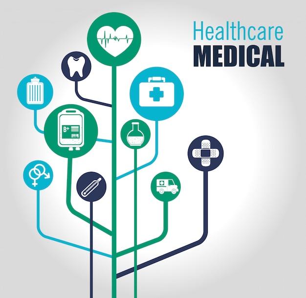 Projeto de saúde médico. Vetor Premium