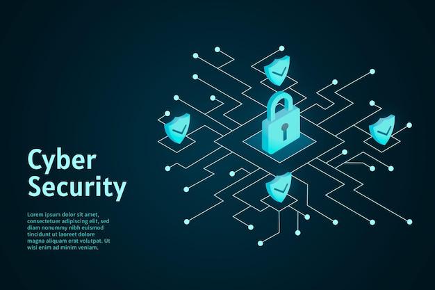 Projeto de segurança cibernética Vetor grátis
