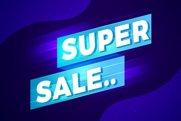 Projeto de sinal abstrato super venda Vetor Premium