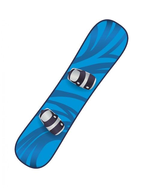 Projeto de snowboard Vetor Premium