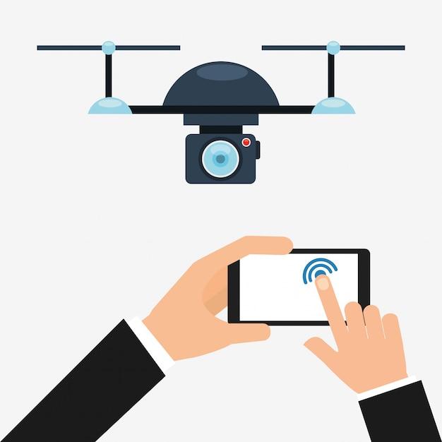 Projeto de tecnologia drone Vetor grátis