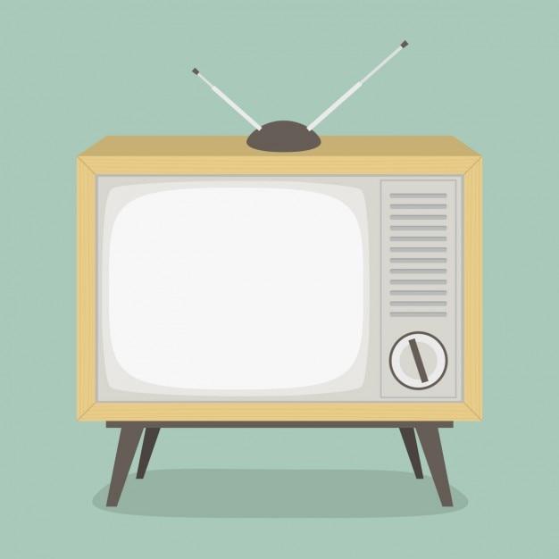 Projeto de televisão do vintage Vetor grátis