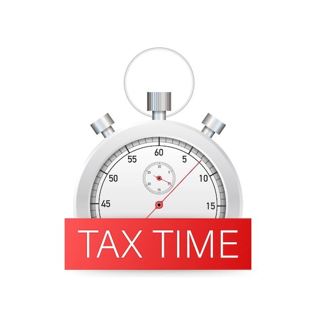 Projeto de tempo de imposto, prazo, planejamento. Vetor Premium