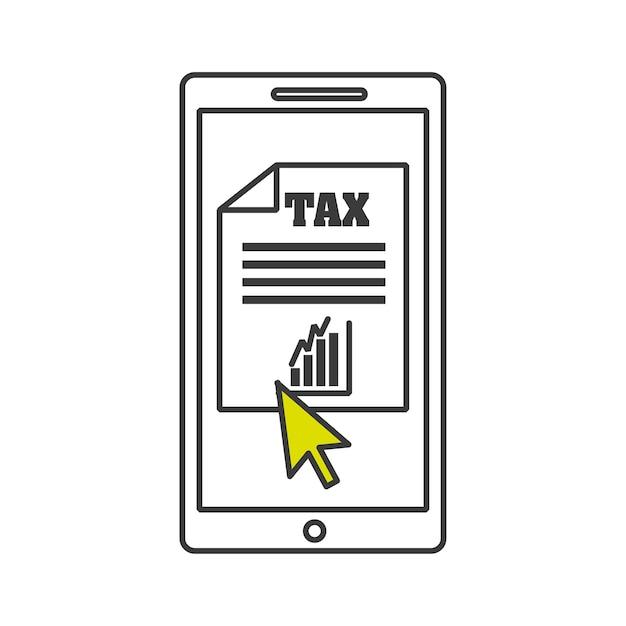 Projeto de tempo de imposto Vetor Premium