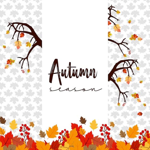 Projeto de temporada de outono com vetor de luz de fundo Vetor grátis