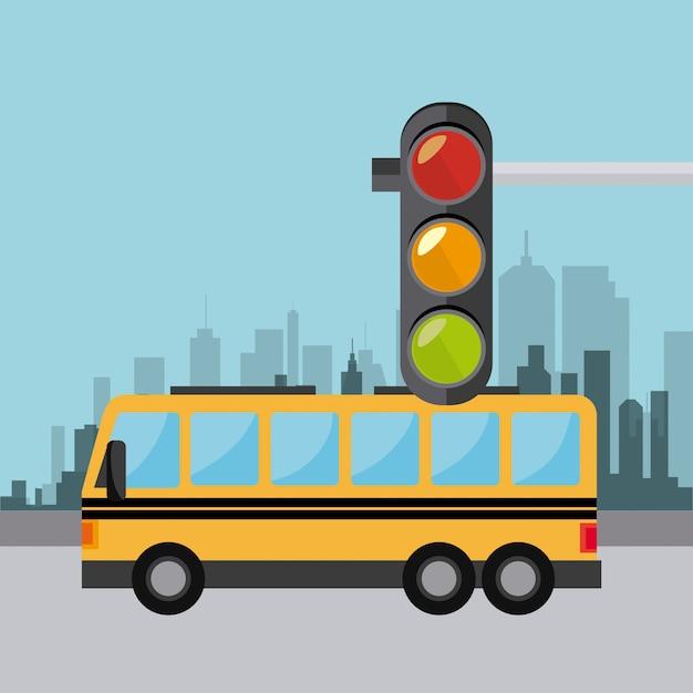Projeto de transporte, tráfego e veículos Vetor grátis