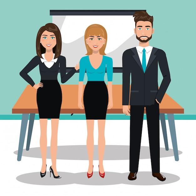 Projeto de treinamento de negócios Vetor Premium