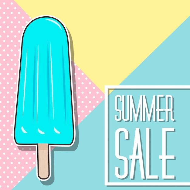 Projeto de venda de verão com sorvete Vetor Premium