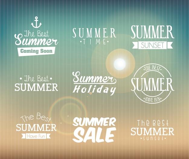 Projeto de verão sobre ilustração em vetor fundo padrão Vetor Premium