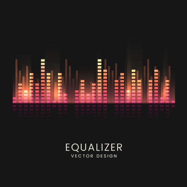 Projeto de vetor de equalizador de onda sonora colorida Vetor grátis