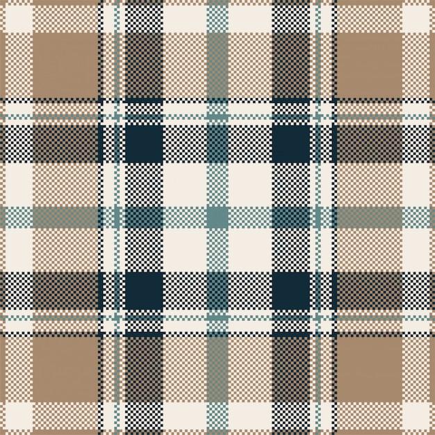 Projeto de vetor de fundo pixel. manta moderna padrão sem emenda. Vetor Premium