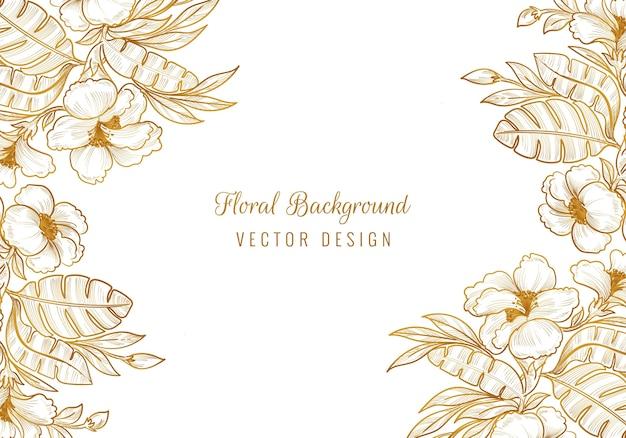 Projeto decorativo floral decorativo da moldura Vetor grátis