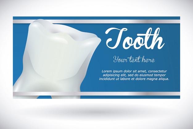 Projeto dental, ilustração vetorial. Vetor Premium