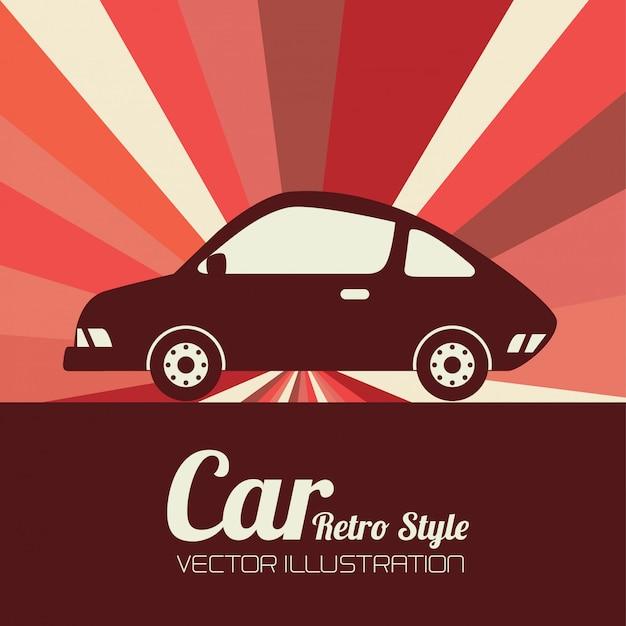 Projeto do carro Vetor Premium