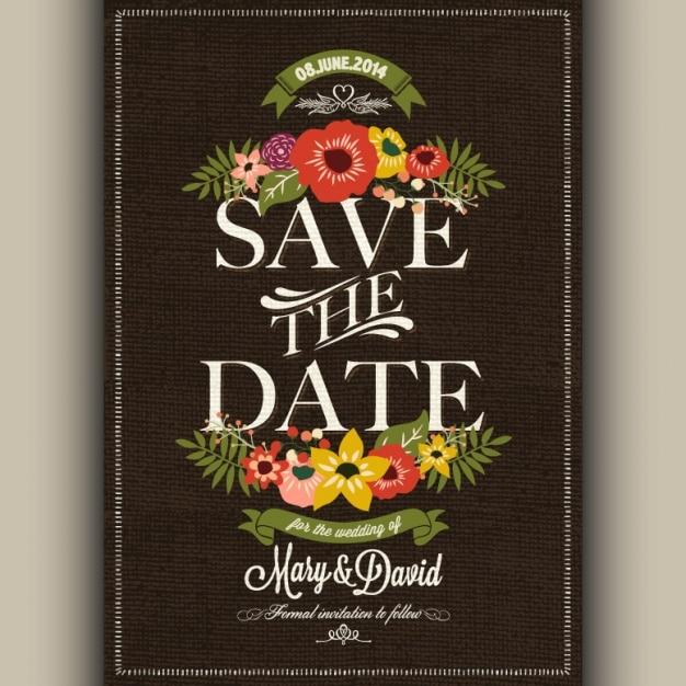 Projeto do convite do casamento Vetor grátis