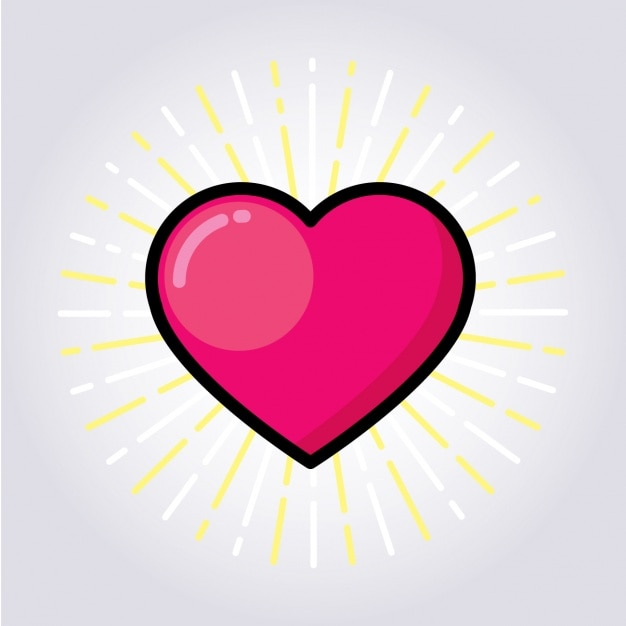 Projeto do coração colorido Vetor grátis
