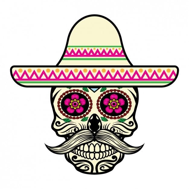 Projeto do crânio mexicano Vetor grátis