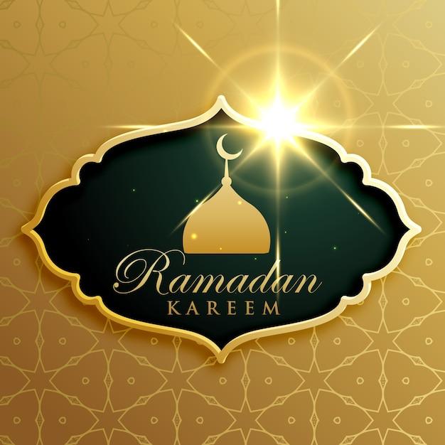 Projeto do cumprimento do festival do kareem do ramadan no estilo superior Vetor grátis