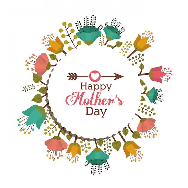 Projeto do dia das mães Vetor Premium