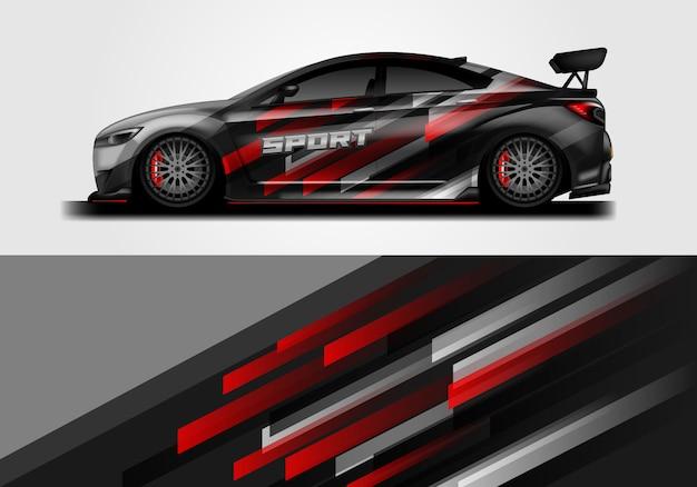 Projeto do envoltório do decalque do carro Vetor Premium