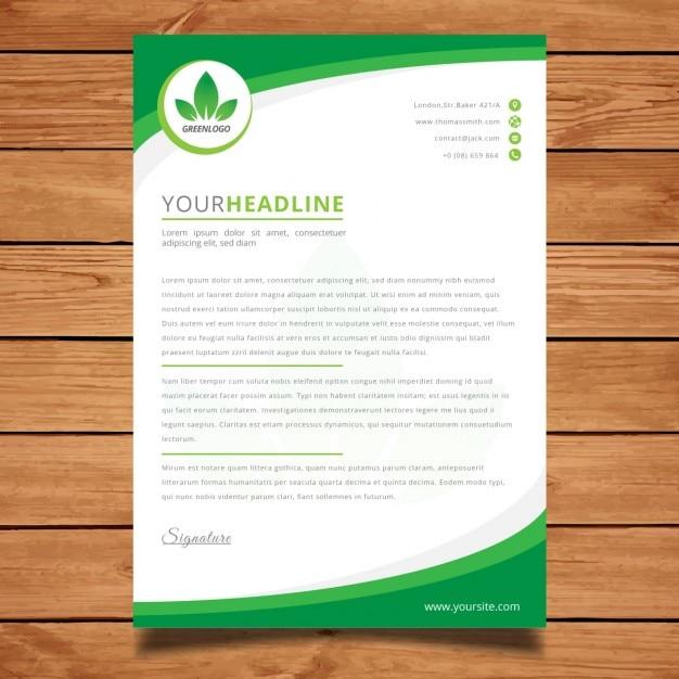 Projeto do folheto corporativo verde moderna Vetor grátis