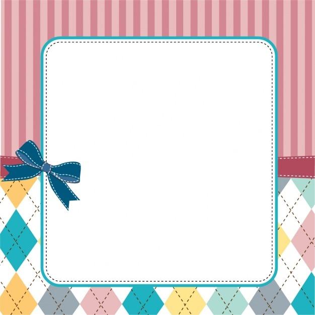 Projeto do frame do molde para o cartão Vetor grátis