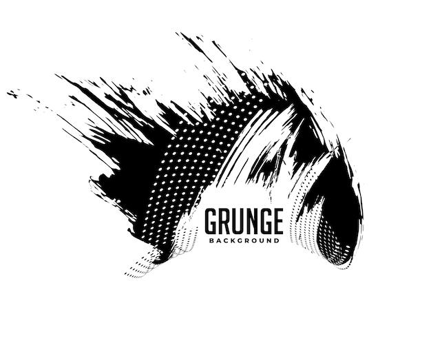 Projeto do fundo da textura do grunge com manchas pretas sujas Vetor grátis