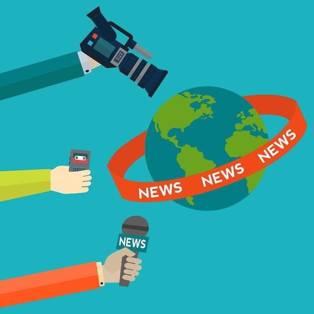 Projeto do fundo do jornalismo Vetor grátis