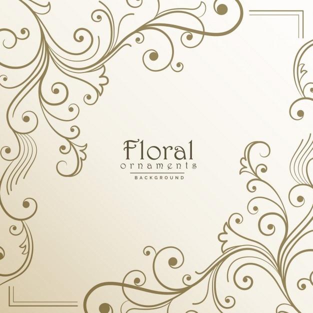 Projeto do fundo floral bonito Vetor grátis
