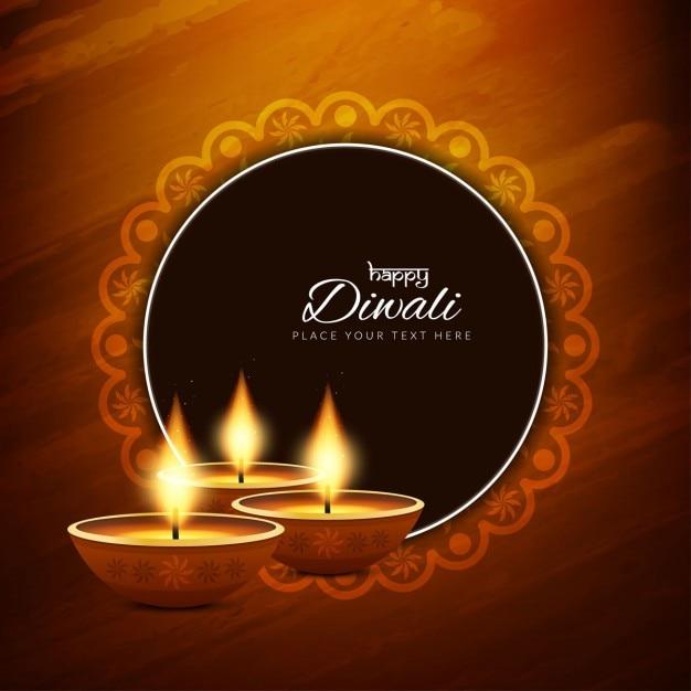 Projeto do fundo religioso diwali feliz Vetor grátis