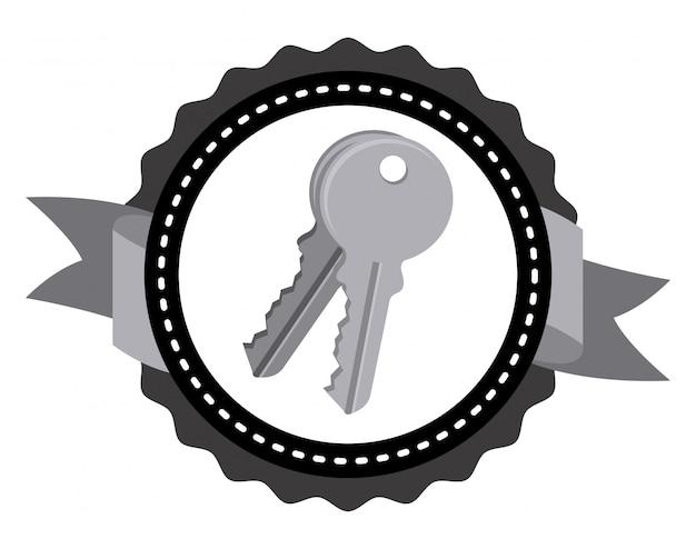 Projeto do ícone de chaves Vetor Premium