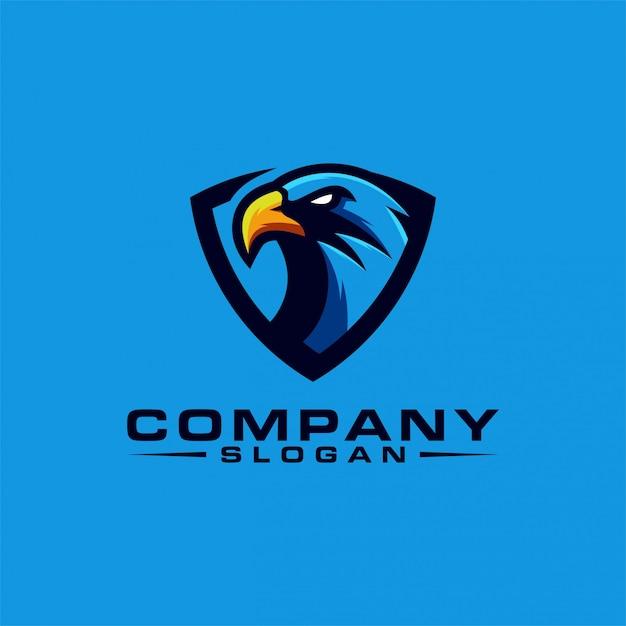Projeto do logotipo da águia Vetor Premium