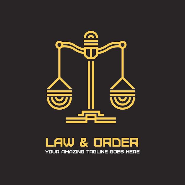 Projeto do logotipo do advogado Vetor grátis