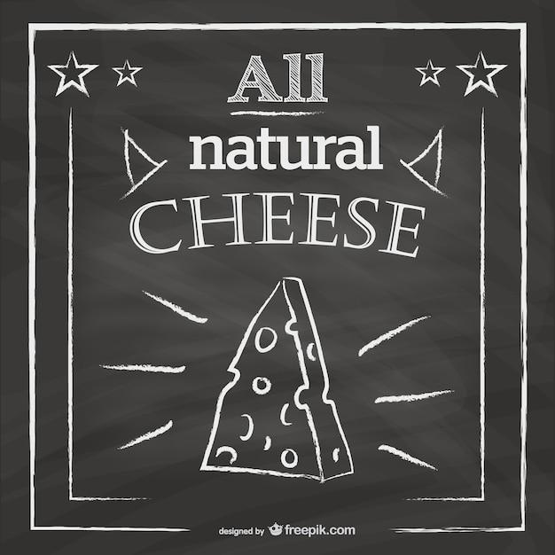 Projeto do menu queijo restaurante negro Vetor grátis